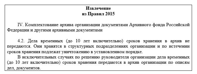 Извлечение из Правил 2015