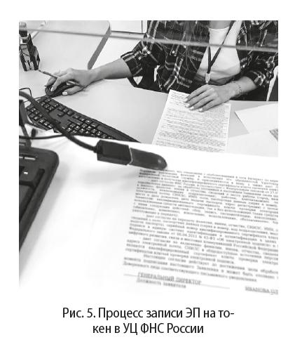 Процесс записи ЭП на токен в УЦ ФНС России