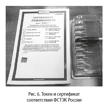 Токен и сертификат соответствия ФСТЭК России